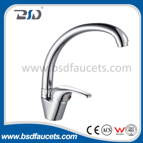China Sanitary Ware Economic Brass Water High Neck Kitchen Faucet