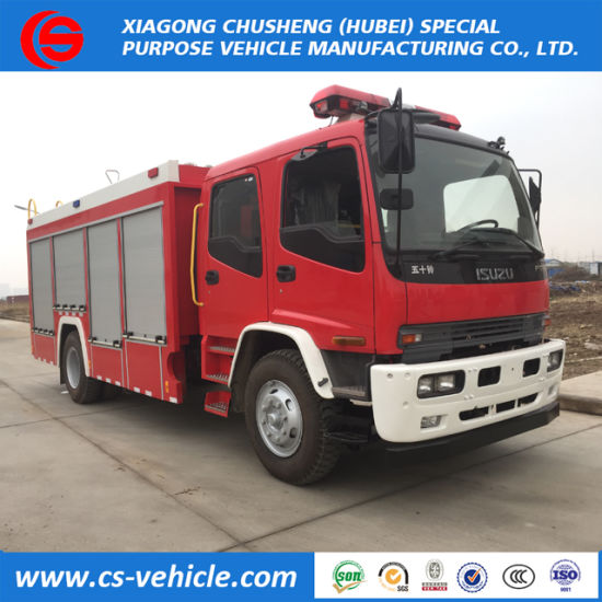 4*2 Isuzu 6 Tons Water Tanker Fire Fighting Truck for Argentina