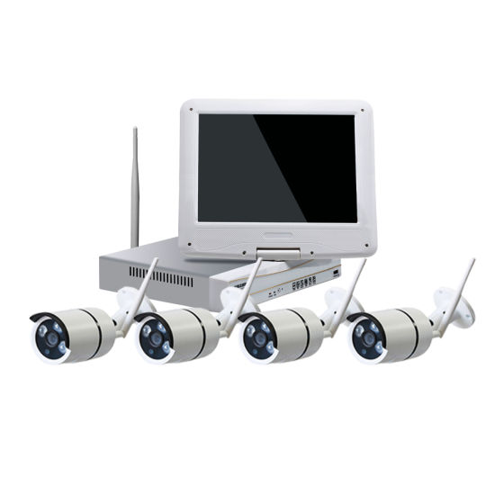 Toesee 4CH WiFi NVR Kit Full 1080P IP Camera CCTV Security Kits Wired/ Wireless Camera NVR System for Home Install