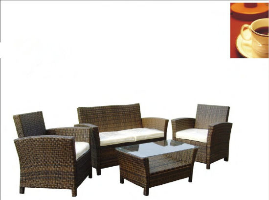 4PCS Set Brown Garden Treasures Furniture