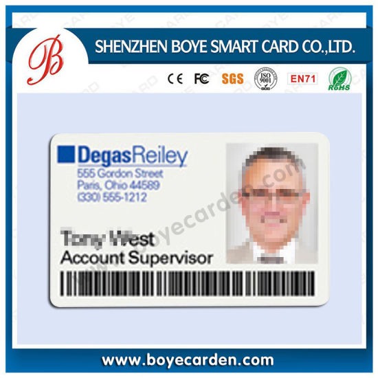 School Use Plastic ID Card with 125kHz Chip pictures & photos