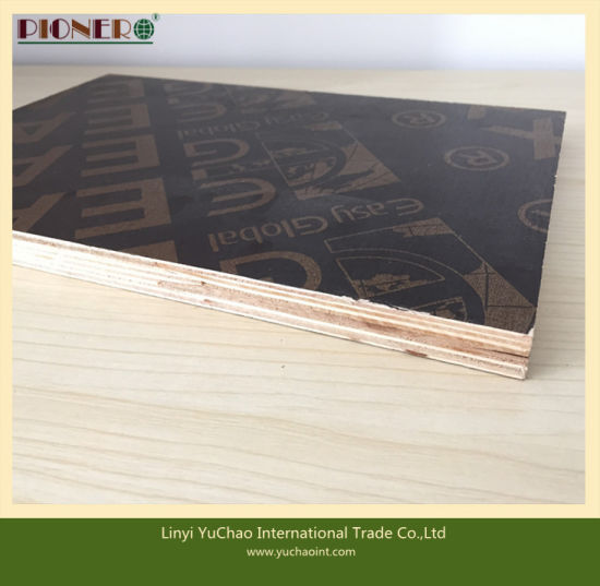 13.5mm Thailand Market Black Film Recycled Core Film Faced Plywood