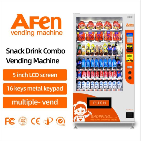 Afen Self-Service Automatic Burger Snack and Drink Vending Machine