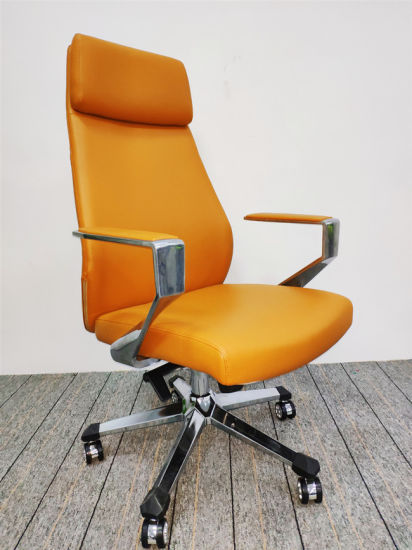 Office Visitor Chair PU Leather Conference Office Chair-6129A