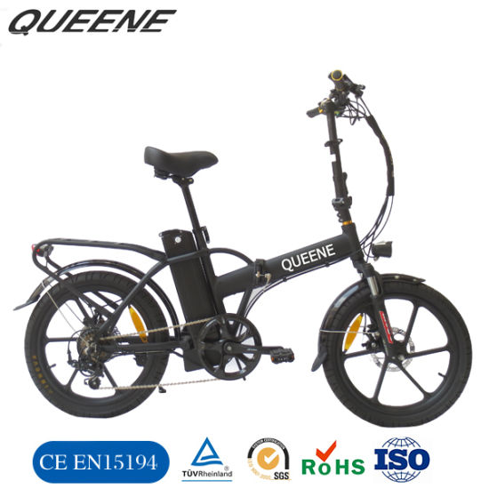 Queene/Two Wheels Aluminium Alloy 20 Inch City Electric Bicycle Folding 3.0inch with LCD Display E Bikes