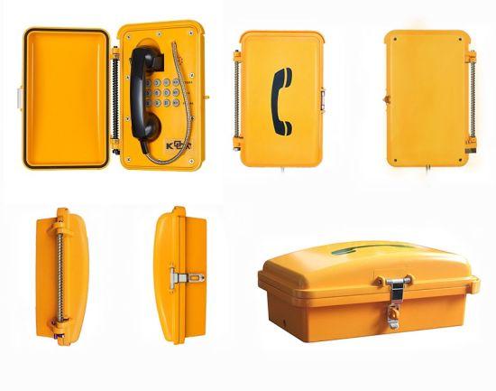 IP66 Outdoor Railway Sos Industrial Tunnel Waterproof Telephones