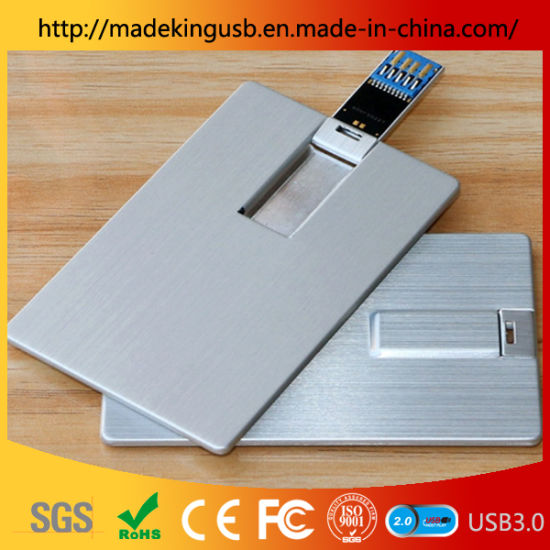 2019 Hot Sale Metal Credit Card USB Flash Drive /USB Pen Drive with Color Printing Logo on Both Sides for Promotional Gift (USB 2.0/3.0) pictures & photos