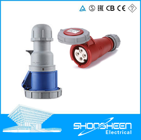 3p+N+E 63A 400V IP67 Industrial Mobile Connector 5 Pin Socket and Plug