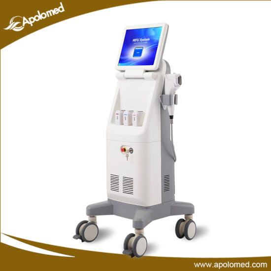 Standing 4 MHz Ultrasound Hifu Wrinkle Removal Hifu System pictures & photos