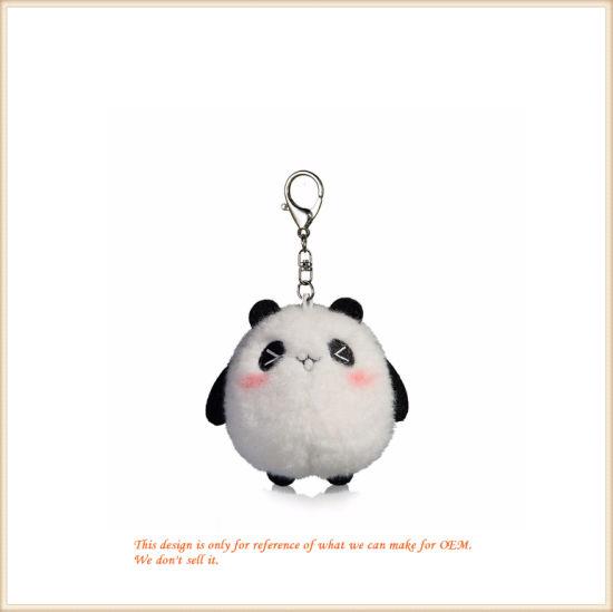 Lovely Shy Panda Key Chain Plush Toy Key Rings Wholesale