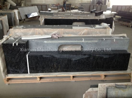 Natural Stone Butterfly Blue Granite for Kitchen Counter Tops/ Bathroom Vanity Tops/ Bar Tops Interior/ Outside Decoration, Home/Hotel Decoration