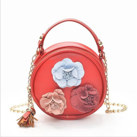 Mini Round PU Leather Zipper Lock Women Mini Coin Purses pictures & photos