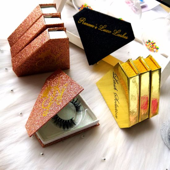 False Eyelashes 25mm 3D Mink Lashes Private Label Package Box