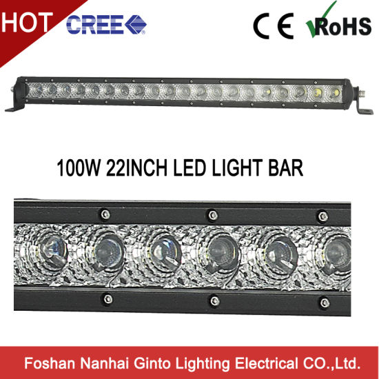 Emark R112 30W/50W/100W/150W Single Row CREE LED Light Bar for Car Offroad Truck Tractor 4X4