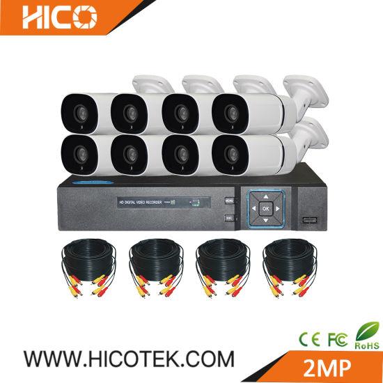 8CH 2MP 1080P Standalone CCTV IP Ahd Cvi Tvi IR Camera DVR Xvr NVR Kits for Outdoor Home Security Recording System