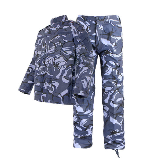 Military Uniform Acu 100% Cotton with High Molecular Fiber Zipper