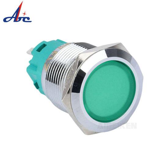 2019 New Product IP67 Waterproof 19mm 24V Blue LED Illuminated Metal Indicator Lamp