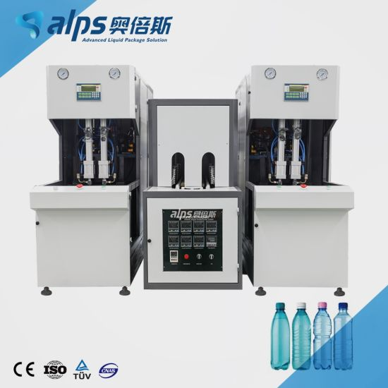 Semi Automatic Plastic Bottle Oil Shampoo Detergent Carbonated Drink Juice Drinking Water Beverage Blowing Making Machine Pet Stretch Blow Molding Blower