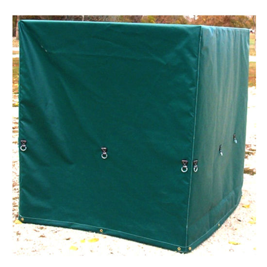 China Waterproof Pvc Customized Pallet Cover With Zipper