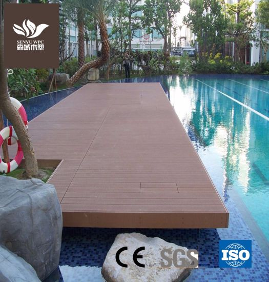 Various WPC Wood Plastic Hollow Flooring for Swimming Pool