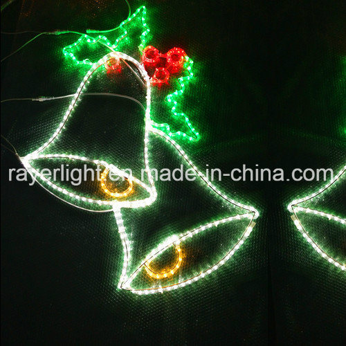 led christmas bell light home door light and market decoration