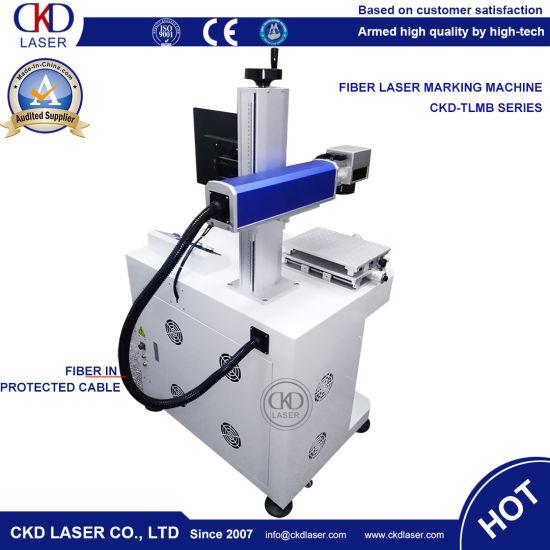 China Worktable Fiber Laser Marking Machine for Wrist Watch Expiry