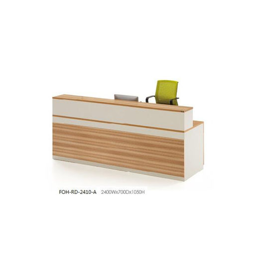 Economical Design MFC Melamine Office Furniture Reception Counter Desk pictures & photos