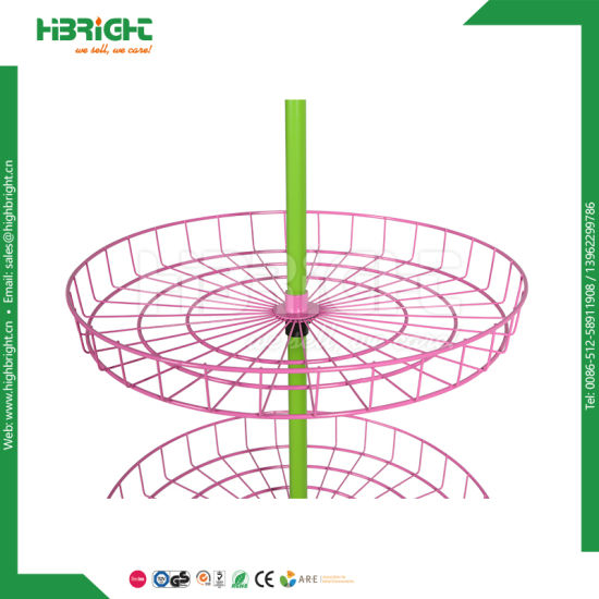 4 Tier Commercial Retail Rotating Spinner Wire Display Stand pictures & photos