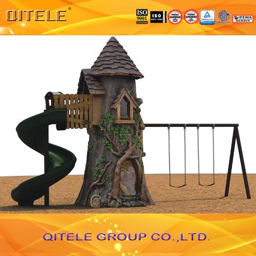Children Outdoor Resin Playground Equipment with Slide