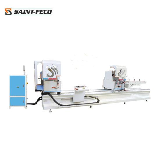 45 Degree Vertical Aluminium Window Double Head Cutting Machine Saw