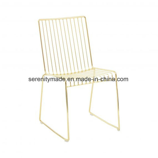 Pleasing China Guangzhou Furniture Plated Gold Metal Wire Outdoor Creativecarmelina Interior Chair Design Creativecarmelinacom