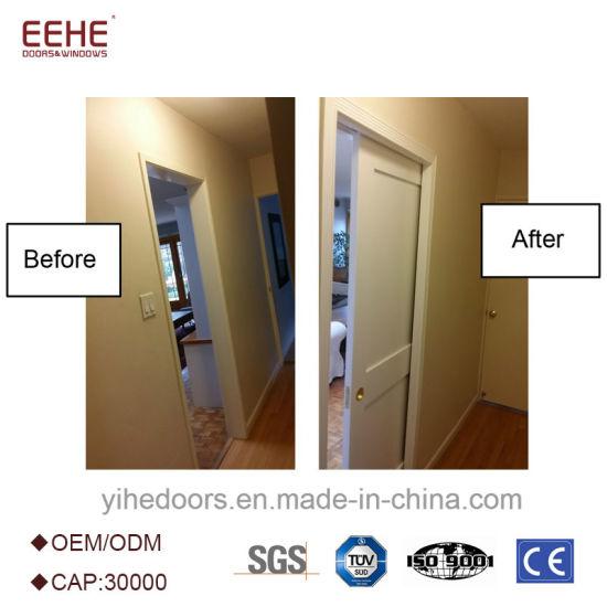 China Sliding Wooden Door Interior Pocket Door Panel Door Space