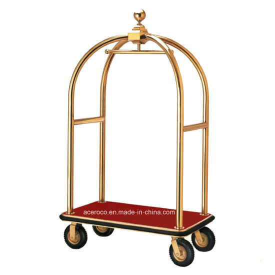 Dome Head Stainless Steel Hotel Luggage Baggage Service Cart (HC-2)