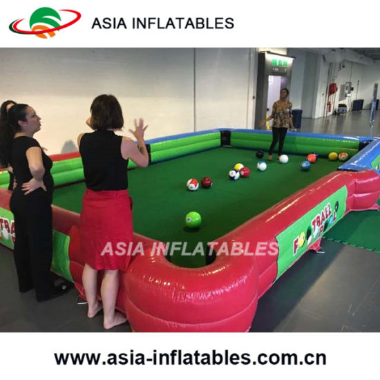 China Inflatable Human Billiards Football Billiards Inflatable - Human pool table