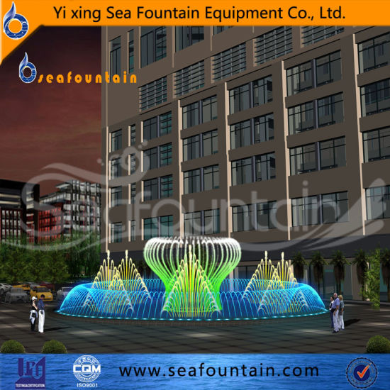 Stainless Steel Colorful Multimedia Floor Fountain pictures & photos