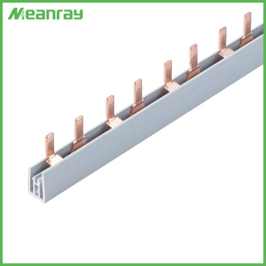Pin Type 1p 2p 3p 4p 63A Copper Busbar for C45 Circuit Breaker