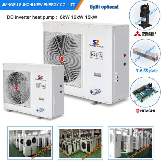 Russia -25c Winter Radiator Heat 100~300sq Meter Room 12kw/19kw/35kw/70kw Auto-Deforst Evi Technology Compressor Unit Heat Pump