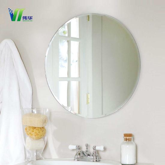 High Quality Custom Bathroom Frameless Mirrors Decorative Wall For