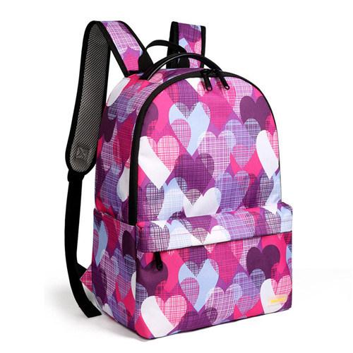 Distributor Printed Polyester Double Shoulder Loverly Girls Kids Students School Bag