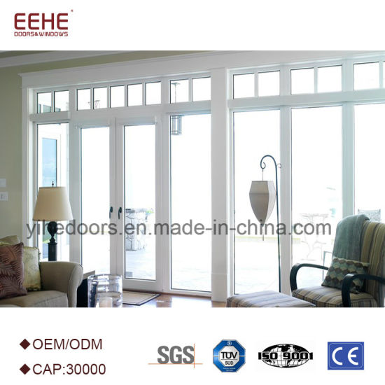 China Residential Aluminum Double Leaf Swing Entry Doors Glass