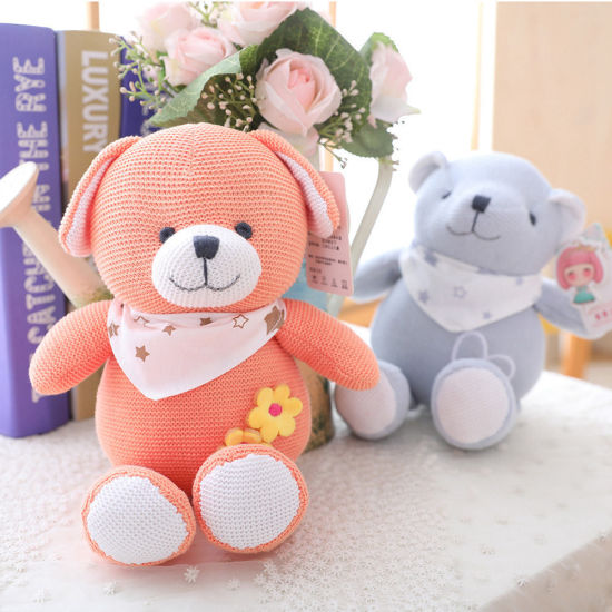 Wholesale Stuffed Promotional Gift Plush Childern Knit Toy Animal