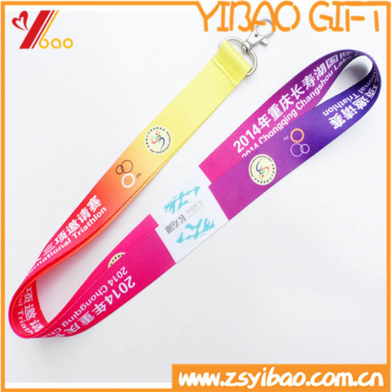 Customed Logo High Quality Fashion Silk Screen Lanyard (YB-HR-21) pictures & photos