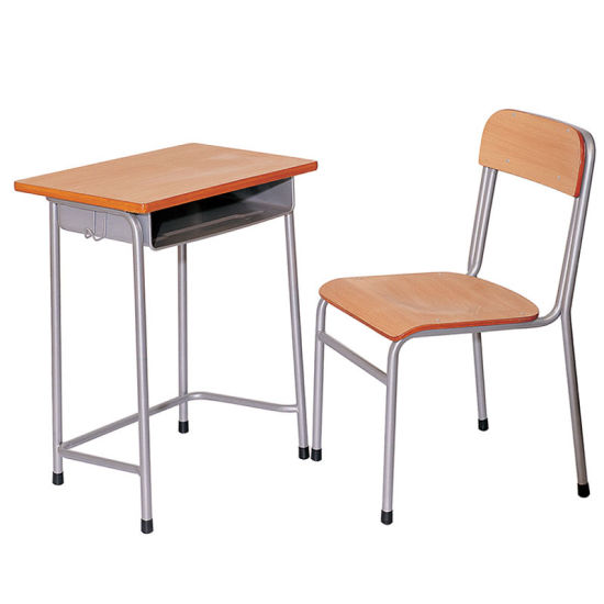 Morden Appearance School Furniture Single Study Student Desk Table /  Children School Desk And Chair Set
