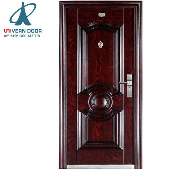 China Modern Main Iron Single Leaf Safety Door Design China Iron