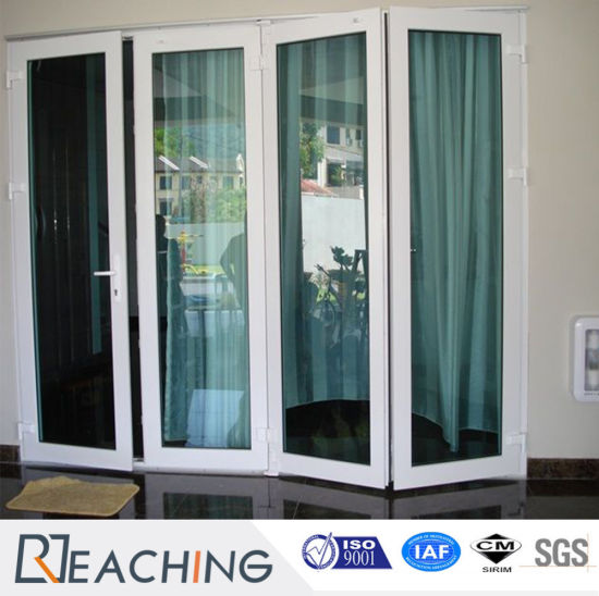 China Double Glazing Exterior Interior Bi Folding 5 Panel Sliding