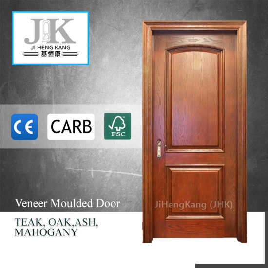 Solid Core Frame Wood Walnut Veneer Interior Door