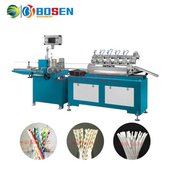 Fully Automatic Biodegradable Rice Paper Drinking Straw Forming Winding Printing Making Machine Factory Manufacturing Price in Sale pictures & photos