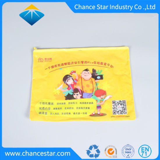 Custom Printed PVC Plastic Mesh Bag with Metal Zipper