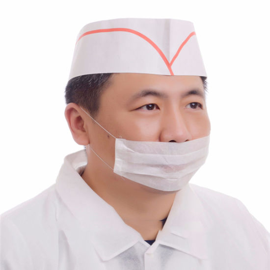 Dispasable Paper Forage Chef Hat Factory