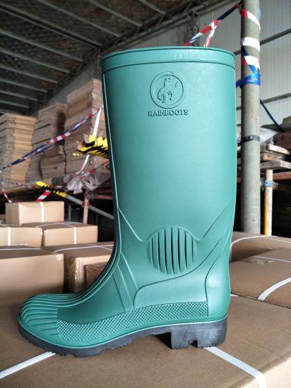 New Model High Quality Industrial Green Rain Gum Boots